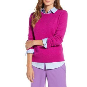 Halogen Crewneck Cashmere Sweater Fuschia